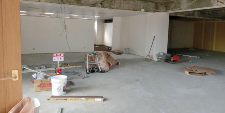 内装工事中の部屋
